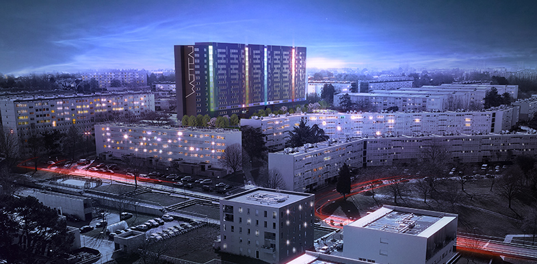 Building Watteau - Vue de nuit